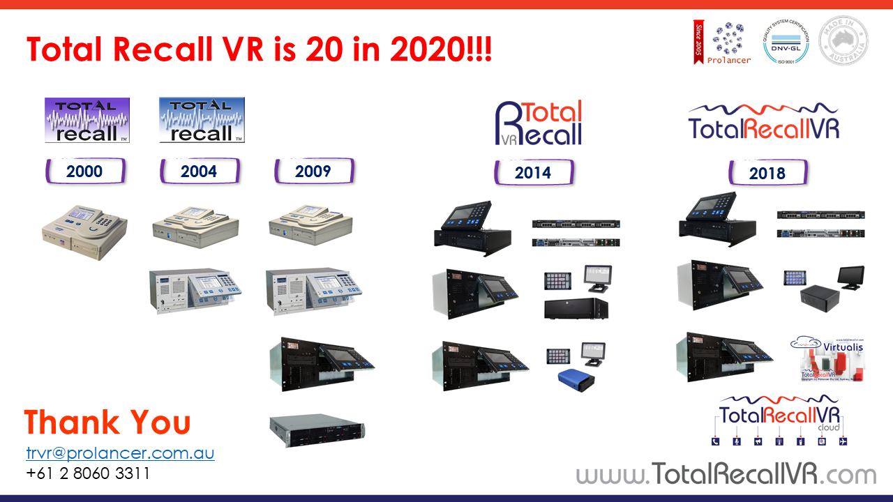 Total Recall VR is 20 in 2020!!!